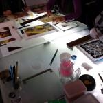 Escher・SUN & MOON 絵付けのワークショップ 2013.11.02_02