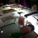 Escher・SUN & MOON 絵付けのワークショップ 2013.11.02_03
