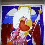 大天使・ハニエル ステンドグラスの絵付けワークショップ 003