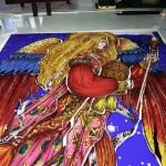 大天使・ハニエル ステンドグラスの絵付けワークショップ 012