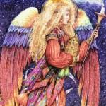 大天使・ハニエル ステンドグラスの絵付けワークショップ 原画