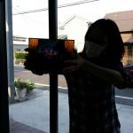 エナメル絵付けのワークショップ・花のステンドグラス 小パネル 4日目 04