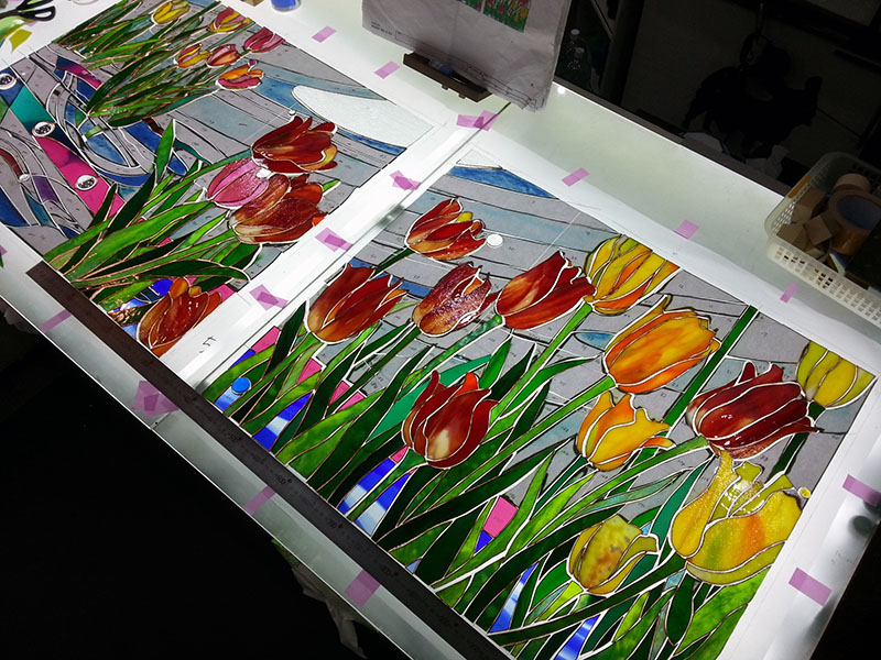 20141119_Tulip_Glass_cutting