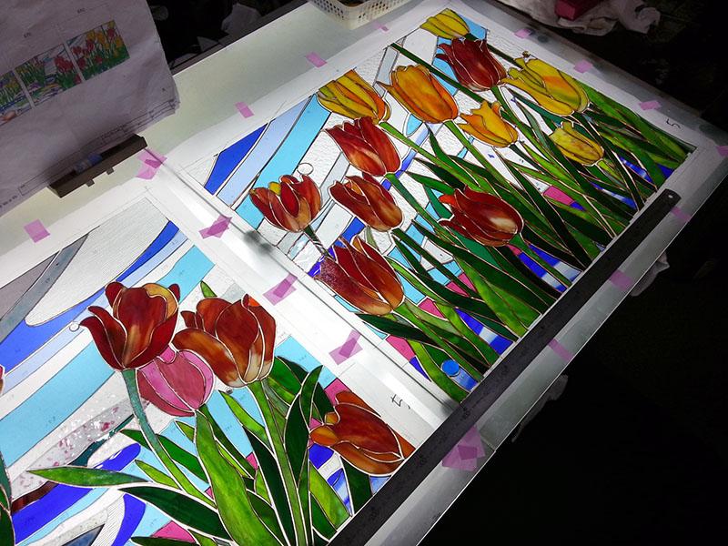 20141120_Tulip_Glass_cutting_01