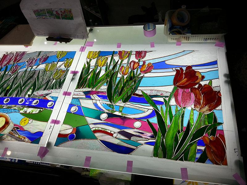 20141122_Tulip_Glass_cutting_01